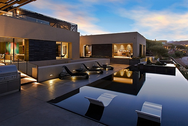 Contemporary pool with sleek and stylish design