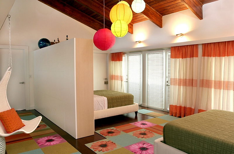 View In Gallery Cool Contemporary Kidsu0027 Bedroom With Colorful Lighting  Additions