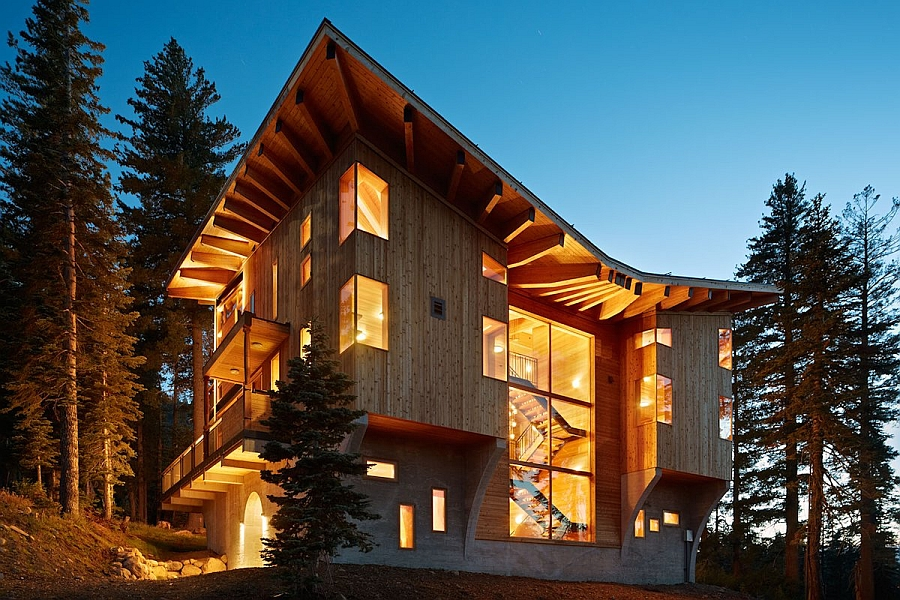 Crows Nest Residence in Sugar Bowl Ski Resort in California Classic Ski Cabin Design Meets Contemporary Luxury At The Crow's Nest