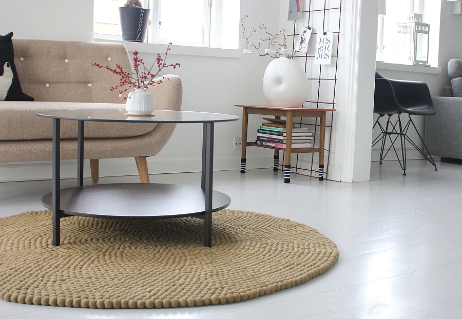 Custom-Crafted Felt Ball Rug for the Contemporary Interior