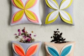 DIY felt cushion covers