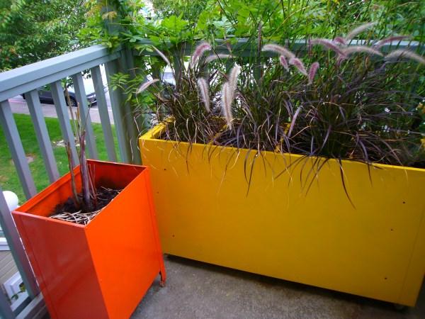 DIY file cabinet planter