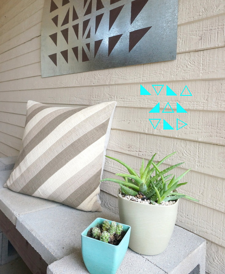 DIY geo outdoor art