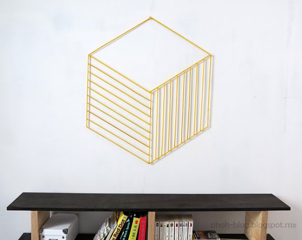 DIY geometric wall decoration