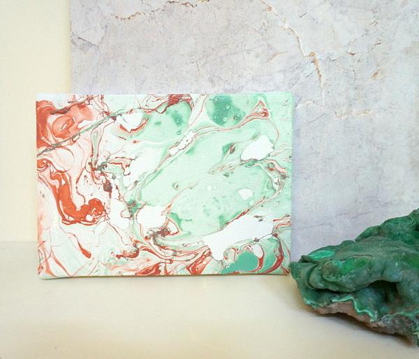 DIY marble art