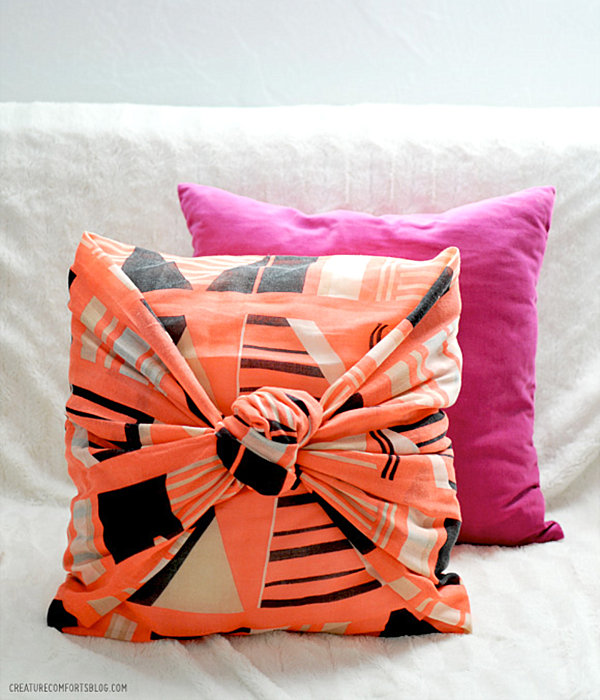 Charming View In Gallery DIY No Sew Pillow Cover
