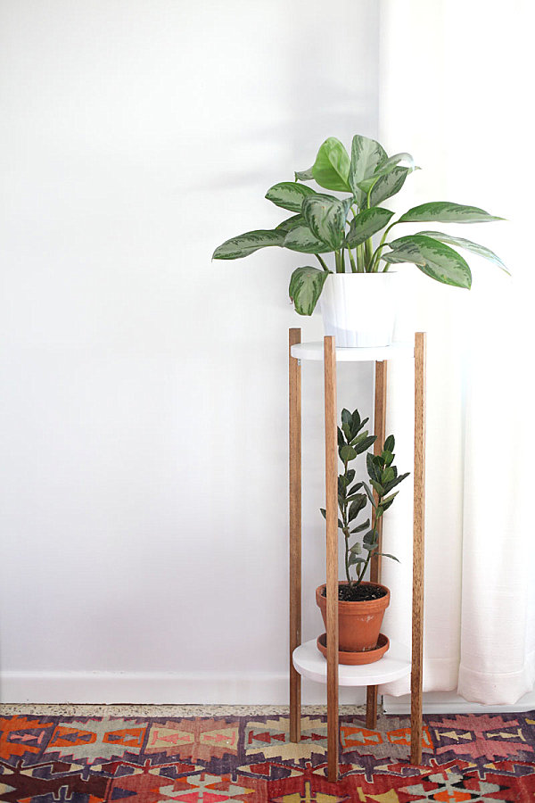 DIY two-tiered plant stand