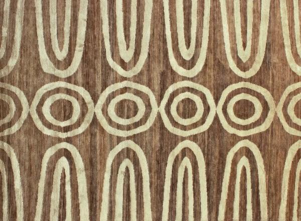 Earthy meets luxe rug