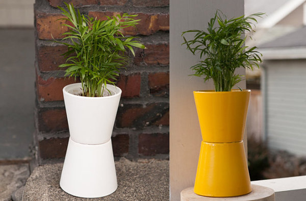 Easy modern planter idea