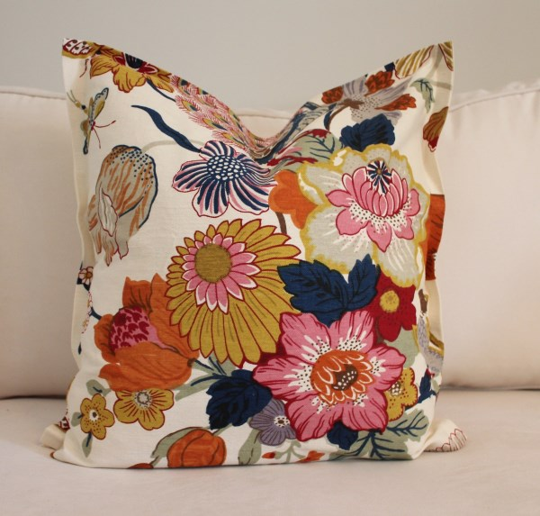 Easy no-sew pillow