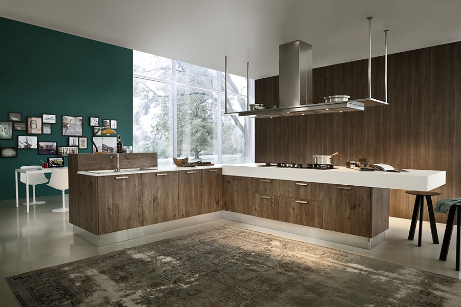 Eko Eco friendly kitchen from Pedini Gorgeous Kitchen Blends Sleek Minimalism With A Chic Eco Friendly Design