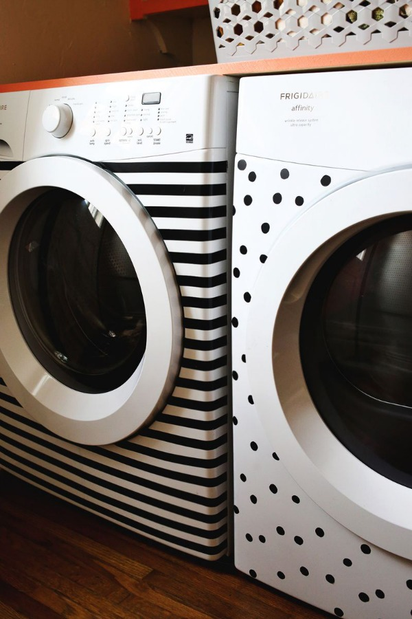 Electrical tape washer dryer makeover