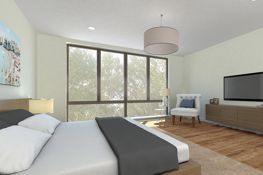Elegant and exclusive bedroom with ample natural ventilation