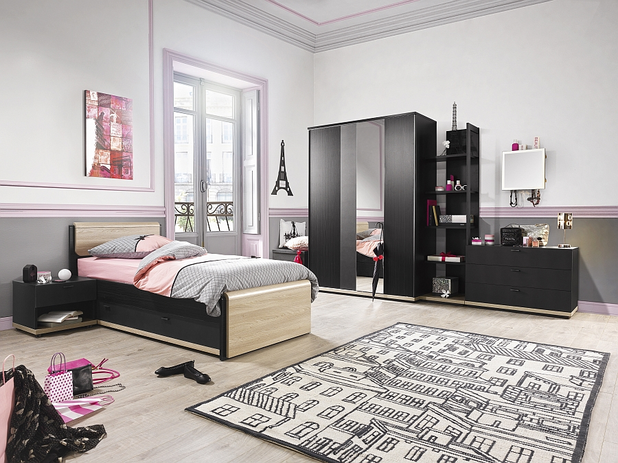 Exclusive Urban bedroom is a blend of smart and chic modular units