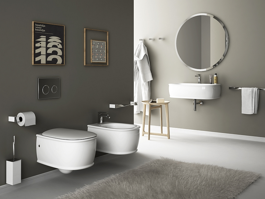 Wall hung sanitary solutions for the small space conscious bathroom for Wc deco modern