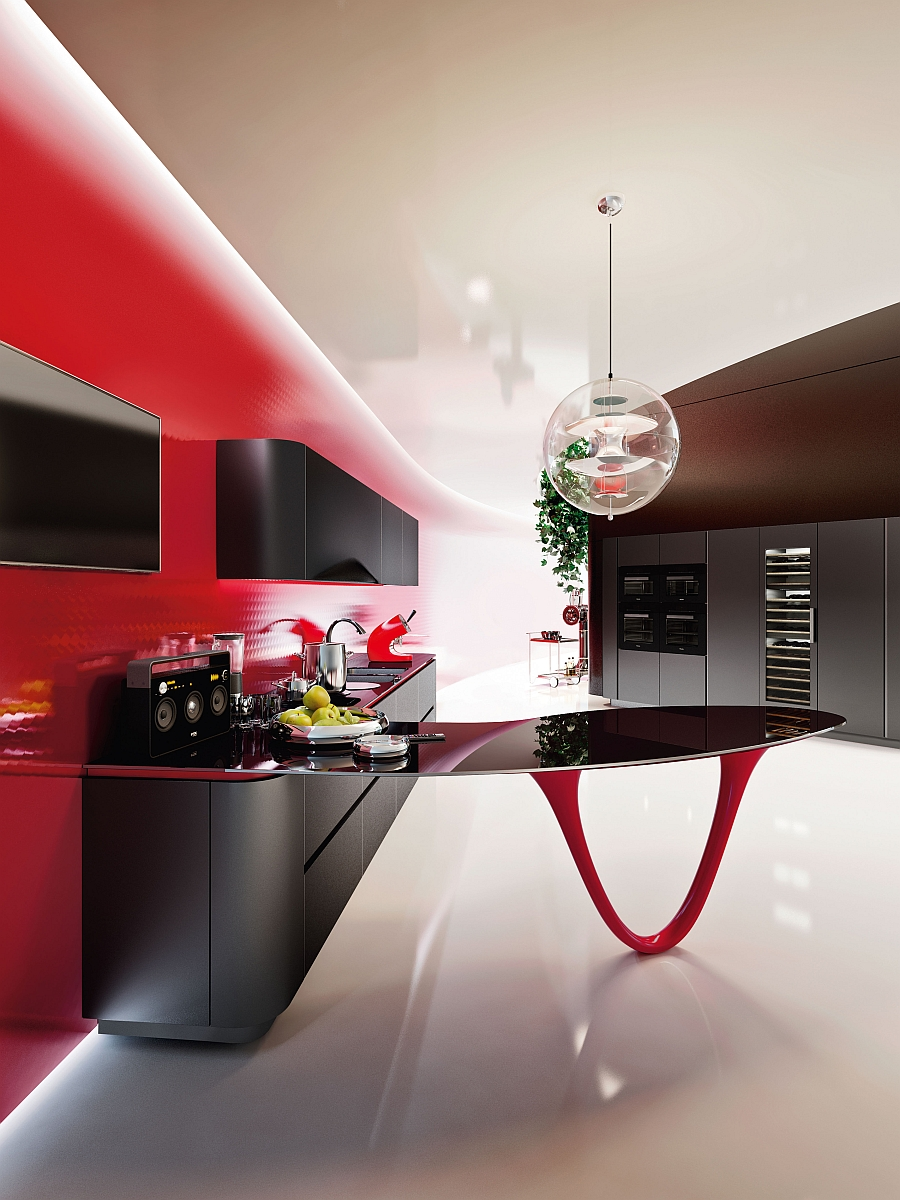 Exquisite modern kitchen designed by Snaidero and Pininfarina