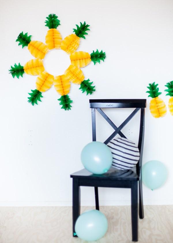 Festive pineapple wreath