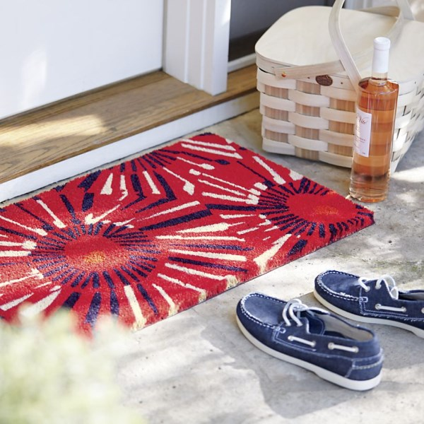 Fireworks-themed doormat