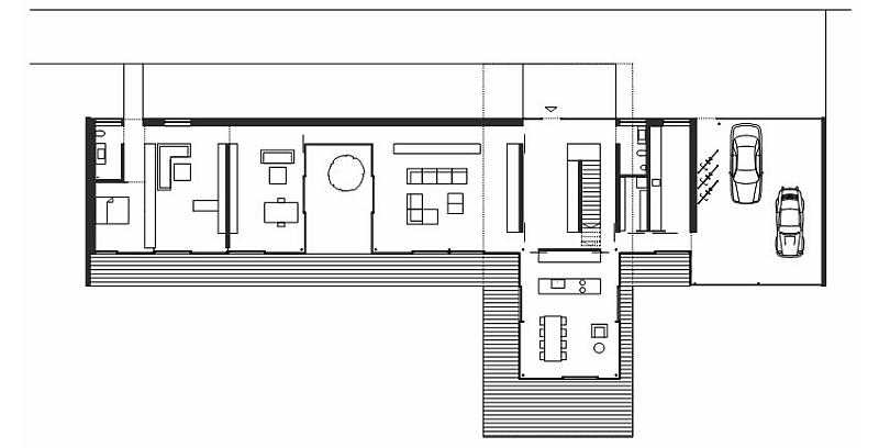 Floor plan of House LK in Austria