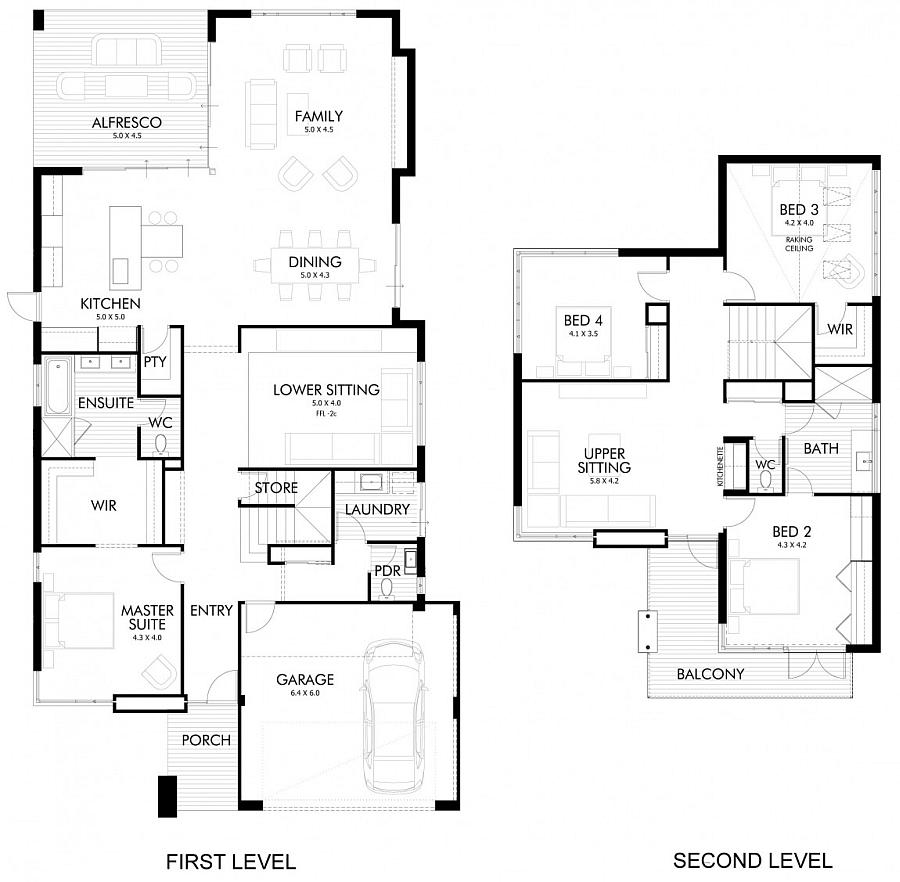 Floor plan of the Brindabella by Webb & Brown-Neaves in Perth