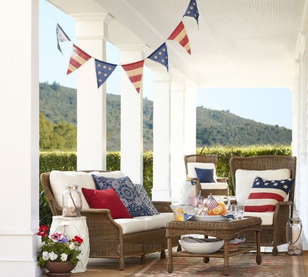 Fourth of July decor from Pottery Barn