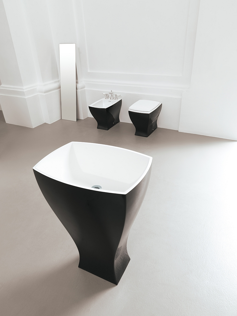 Freestanding washbasin from Artceram blends the contemporary with the classic