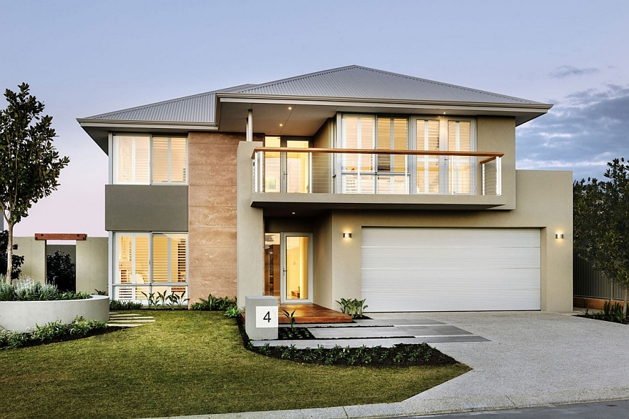 Front facade of the innovative Perth residence