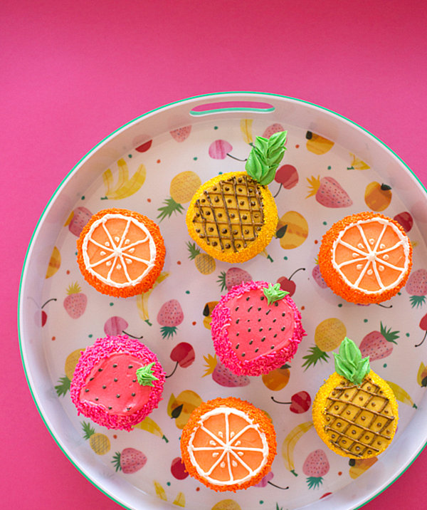Fruity cupcakes for a summer party
