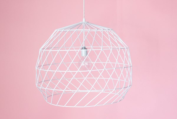 Geometric pendant light from Bend