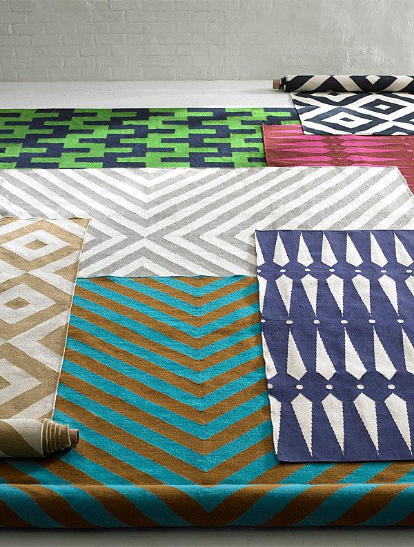 Geometric rugs from Jonathan Adler