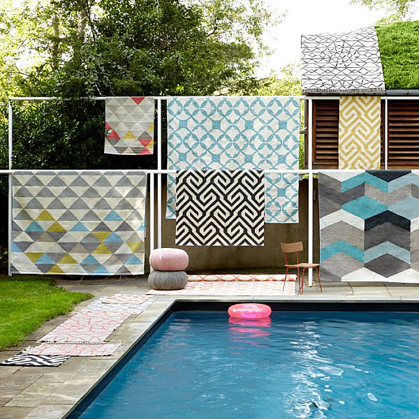 Geometric rugs from West Elm What Patterned Rugs Can Teach Us About Summer Decor