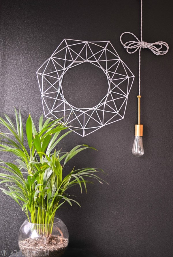 Geometric wreath DIY