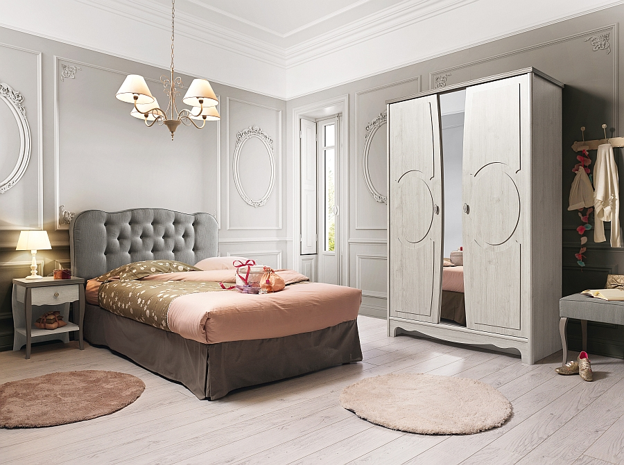 Girl's bedroom inspired by the classic Louis XV Era and some contemporary French flair!
