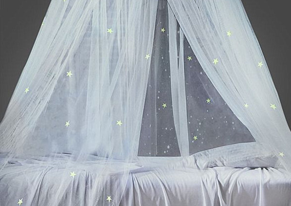 Glow in the Dark star canopy