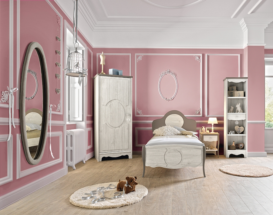 View in gallery Gorgeous girls' bedroom in pink from Gautier Back to School  2014 Collection