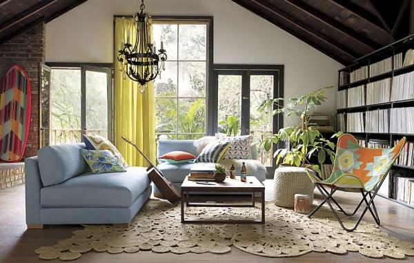Hand-braided jute rug