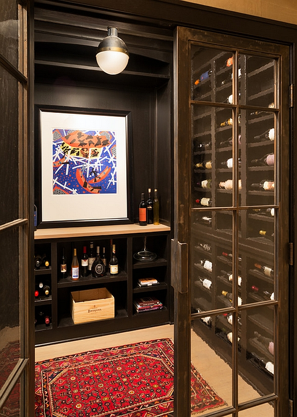 Hicks Pendant makes an appearance even in the wine cellar!
