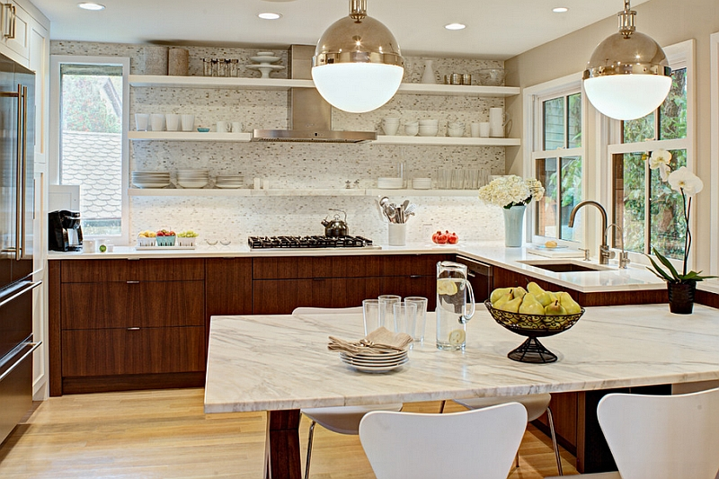 Illuminate the kitchen dining area with smart pendant lighting