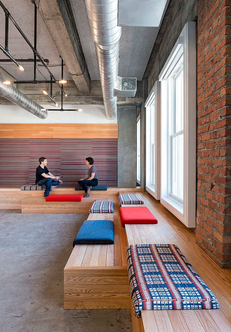 Interior of the new Yelp Headquarters embraces the vintage and the industrial