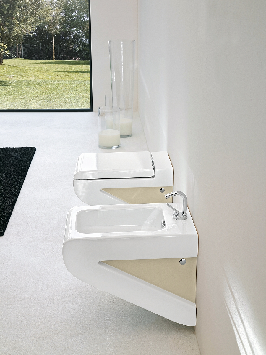 La Fontana wc and bidet collection for those who are really short on space!