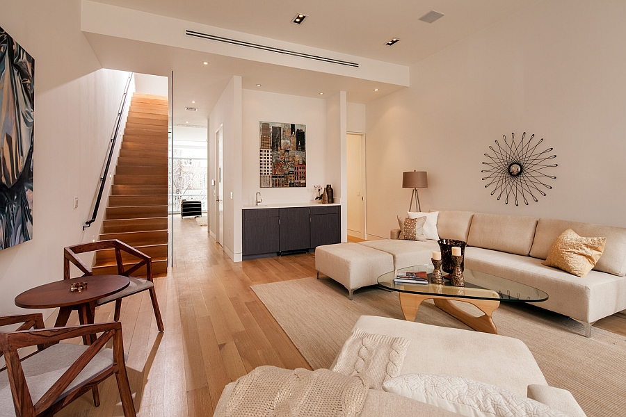 Living space of the New York Residence designed for the art collector