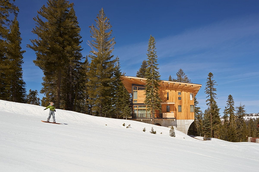 Luxurious and contemporary ski resort in California