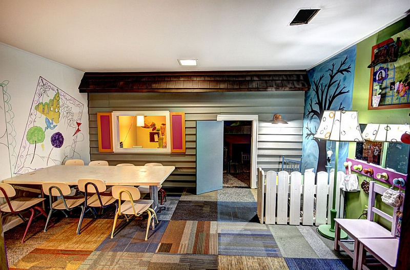 Make smart use of available space in the basement