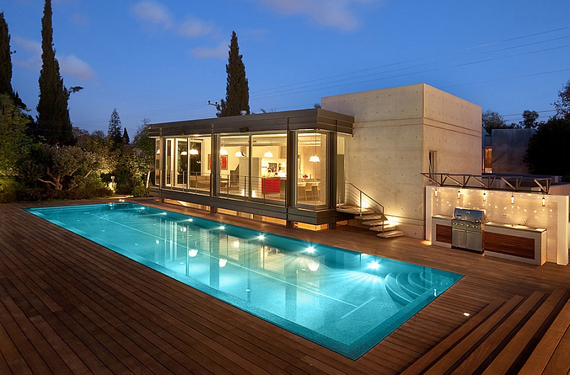 Make the pool deck a natural extension of the living area