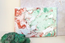 A DIY Marble Art Project