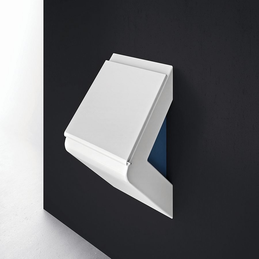 Minimal wall mounted wc that  takes up minimum possible space