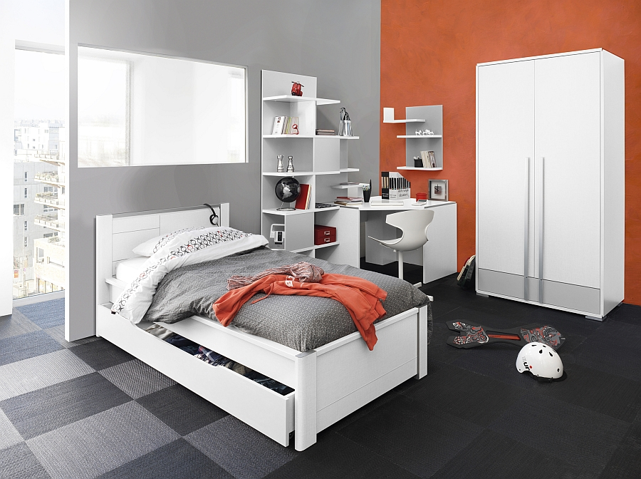Modern bedroom collection that serves both kids and teens alike
