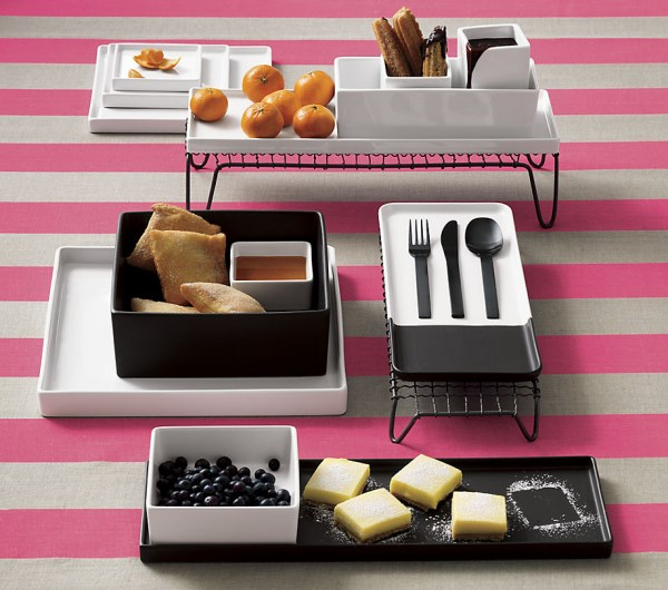 Modern tabletop decor with stripes