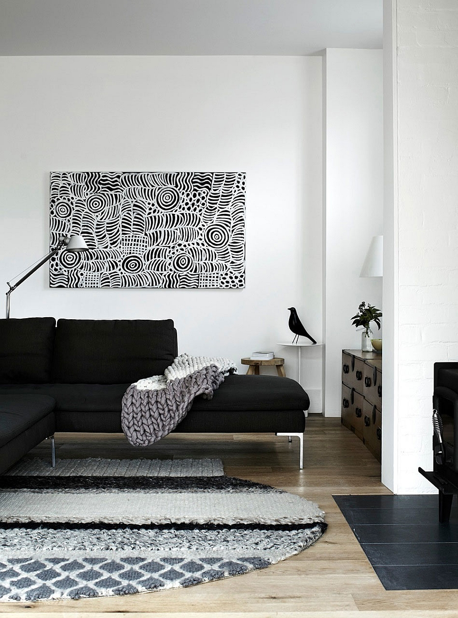 Monochrome interiors with the Eames Bird in the corner