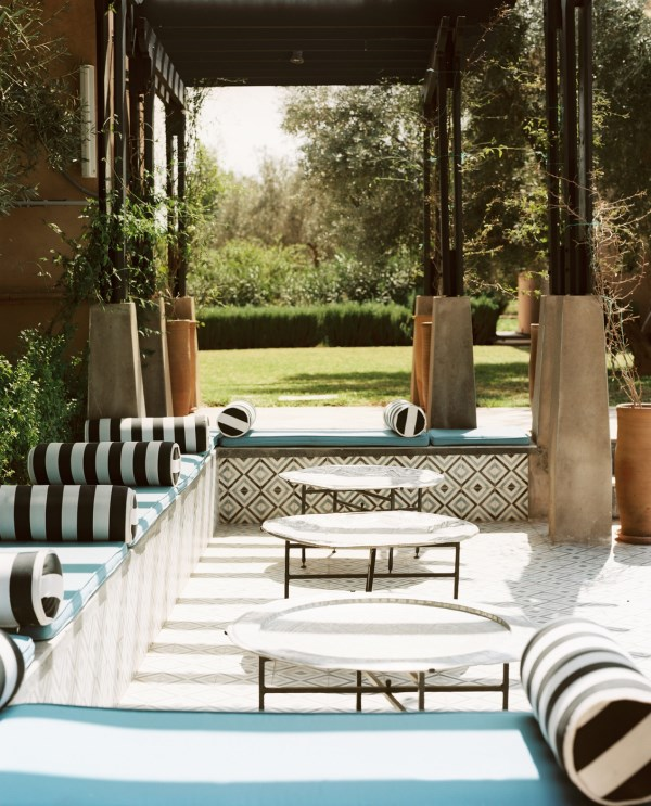 Moroccan-style patio